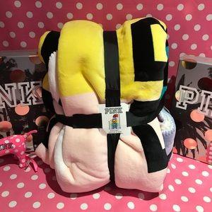 NWT VS PINK XL rainbow Sherpa Blanket